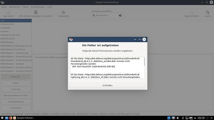 Thunderb-nicht install